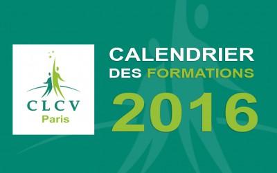 CALENDRIER DES FORMATIONS CLCV PARIS 2016