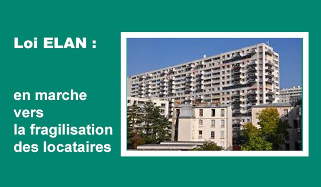Loi ELAN : en marche vers la fragilisation des locataires