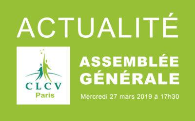 Actualité :  Assemblée Générale du 27 mars 2019