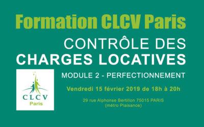 Formation CLCV Paris – Contrôle des charges locatives, module 2 – Perfectionnement : vendredi 15 février 2019 à 18h