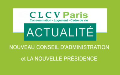Nouveau conseil d'administration à la CLCV Paris et élection de Catherine Bidois à la présidence