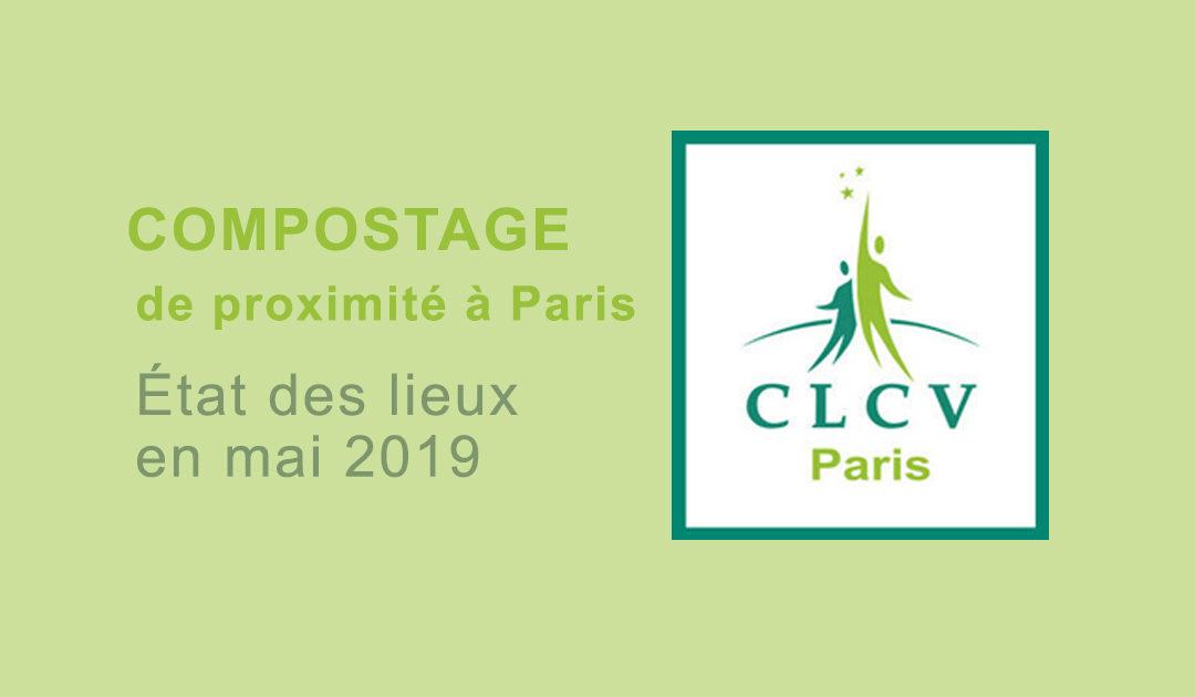 État des lieux en mai 2019 du compostage de proximité à Paris