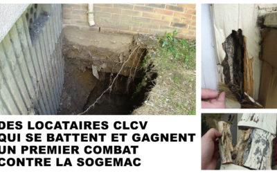 DES LOCATAIRES CLCV QUI SE BATTENT ET GAGNENT UN PREMIER COMBAT CONTRE LA SOGEMAC