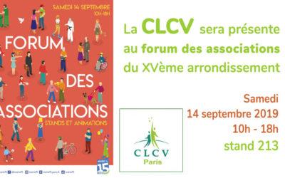 La CLCV sera présente au forum des associations du XVème arrondissement