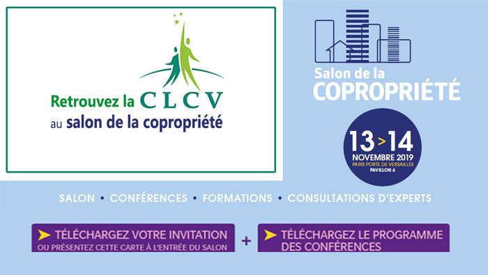 Retrouvez la CLCV au salon de la copropriété les 13 et 14 novembre 2019