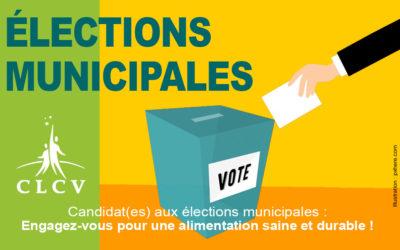 Candidat(es) aux élections municipales : Engagez-vous pour une alimentation saine et durable !