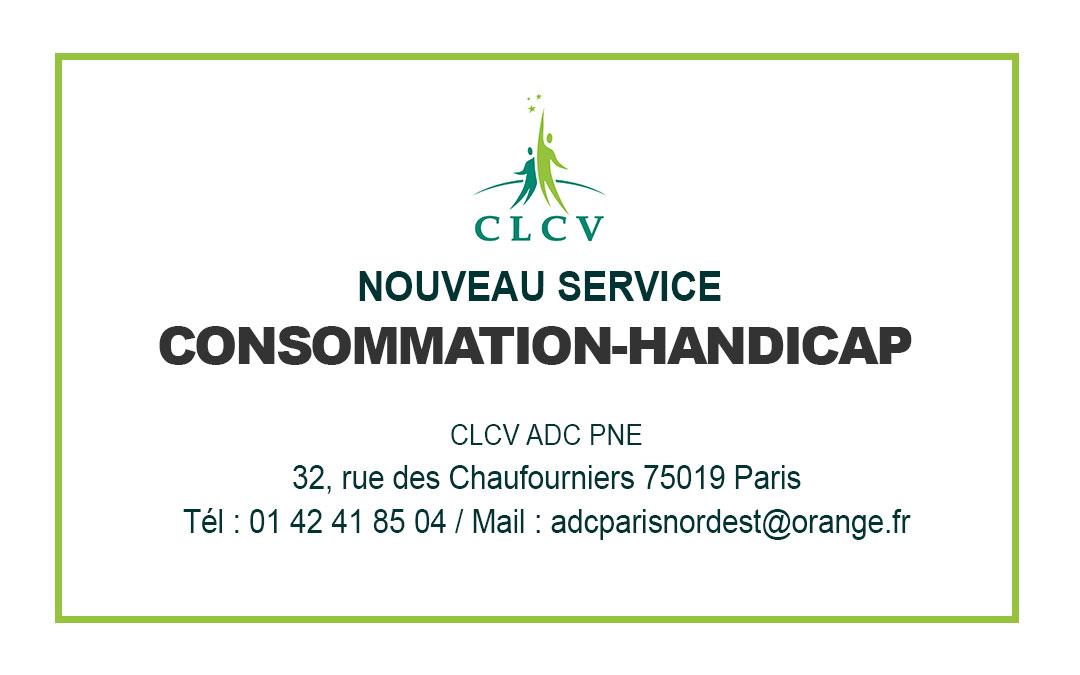 CLCV : CONSULTATIONS JURIDIQUES – NOUVEAU SERVICE DE CONSOMMATION-HANDICAP