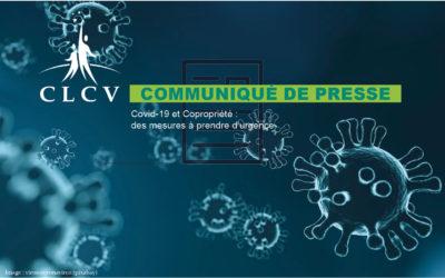 [CLCV Communiqué de presse] Covid-19 et Copropriété : des mesures à prendre d'urgence