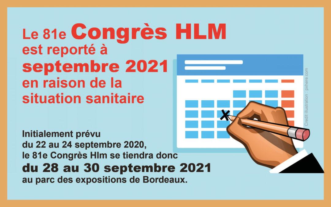 Annulation du congrès HLM: report pour septembre 2021