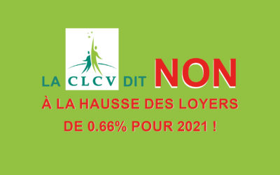 La CLCV dit NON à la hausse des loyers de 0.66% pour 2021 !