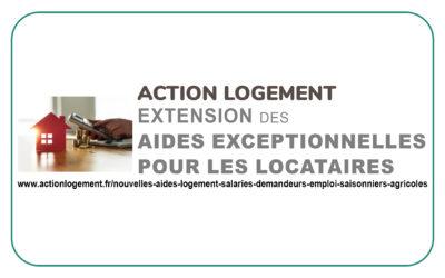ACTION LOGEMENT _ Extension des aides exceptionnelles pour les locataires