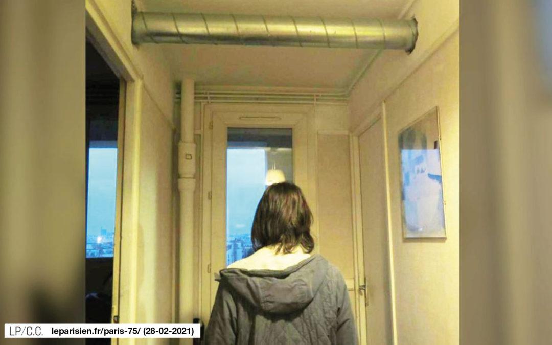 Ces locataires ne veulent pas d'énormes tuyaux façon Beaubourg dans leurs appartements