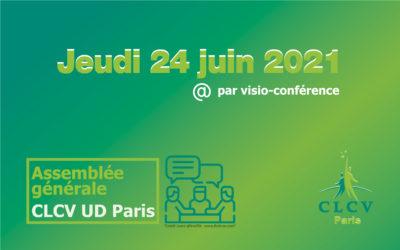 Assemblée générale de l'UD Paris – 24 juin 2021, par visio-conférence